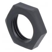 Plastmutter M16x1.5, Black, 5mm tjock
